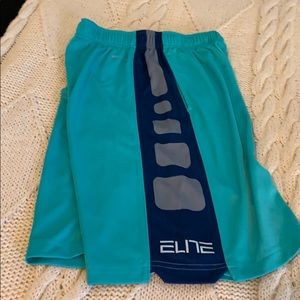 Blue and green athletic shorts